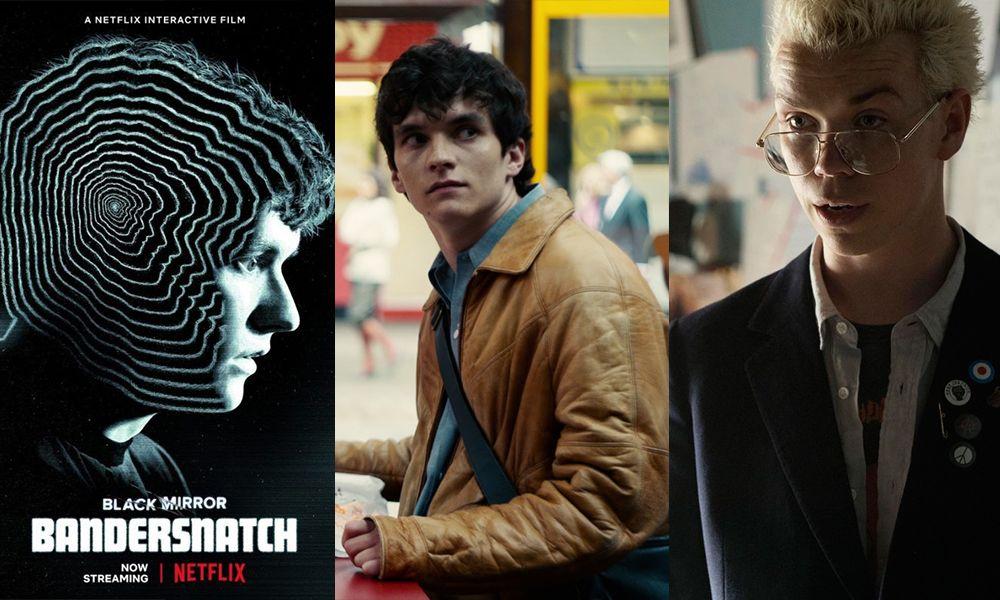 三幅画面,从左至右分别是《黑镜:潘达斯奈基》的海报、男一号与男二号。