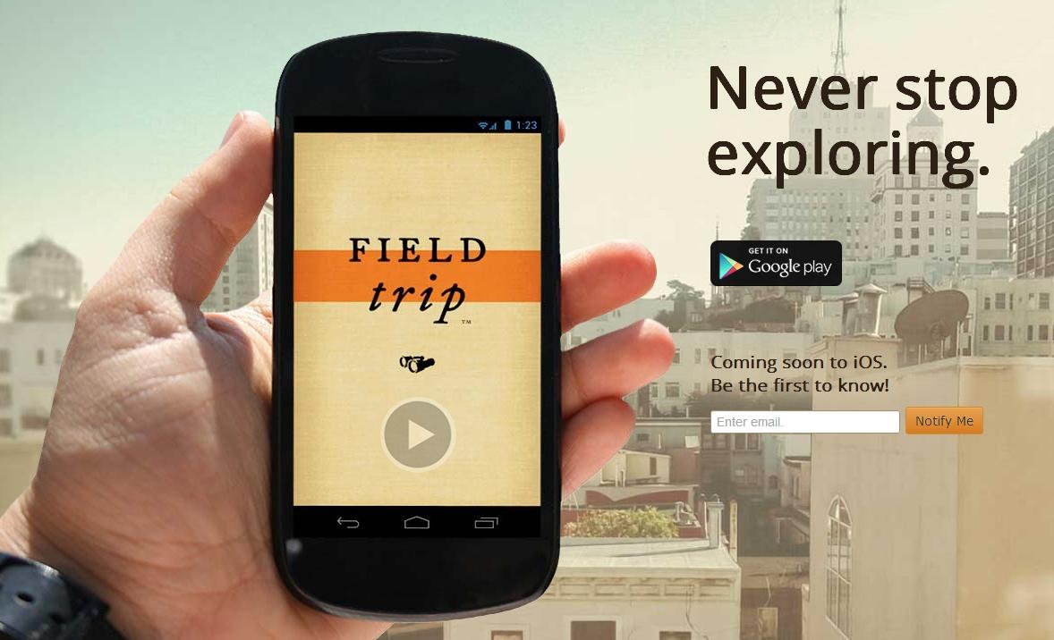 FieldTrip app 本身就带有浓郁的 Google Earth 气质。